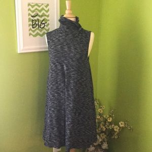 High neck sleeveless dress